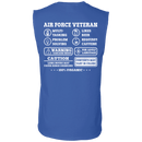 Air Force Veteran Multitasking Sarcasm Men Back T Shirts