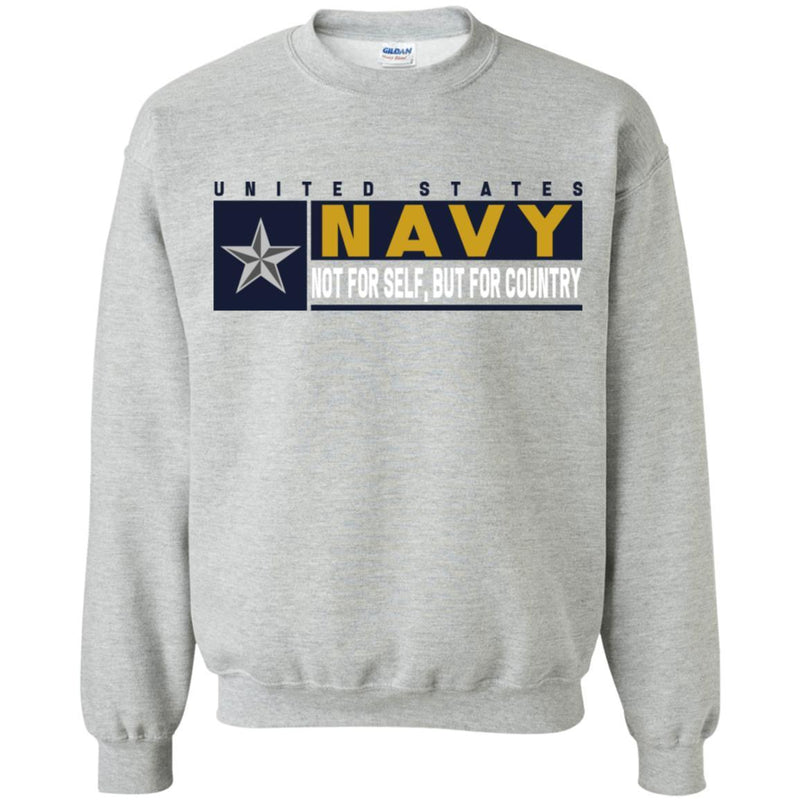 US Navy O-7 Rear Admiral Lower Half O7 RDML Not For Self, But For Country Long Sleeve - Pullover Hoodie