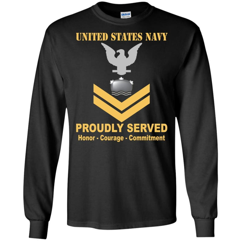 Navy Mineman Navy MN E-5 Rating Badges Proudly Served T-Shirt For Men On Front