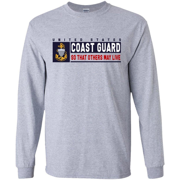 US Coast Guard E-7 Chief Petty Officer E7 CPO So That Others May Live Long Sleeve - Pullover Hoodie