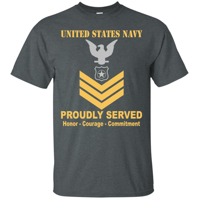 U.S Navy Master-at-arms Navy MA E-6 Rating Badges Proudly Served T-Shirt For Men On Front