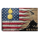 US Army Ordnance Corps Stand For The Flag 24x16 Inches  Landscape Canvas .75in Frame