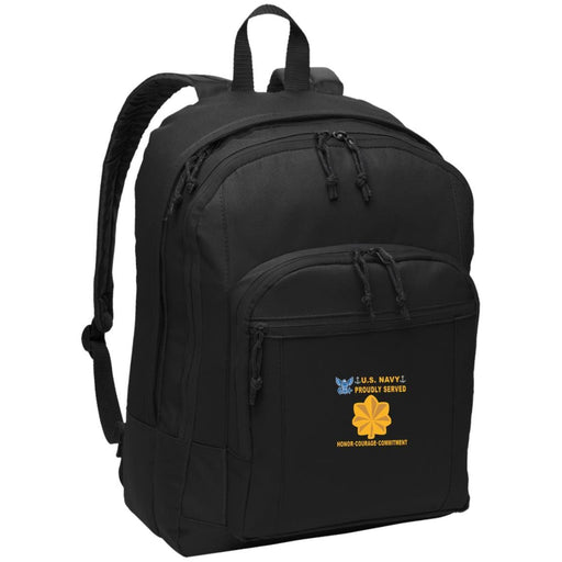 US Navy O-4 Lieutenant Commander O4 LCDR Junior Officer Proudly Served-D04 Embroidered Backpack