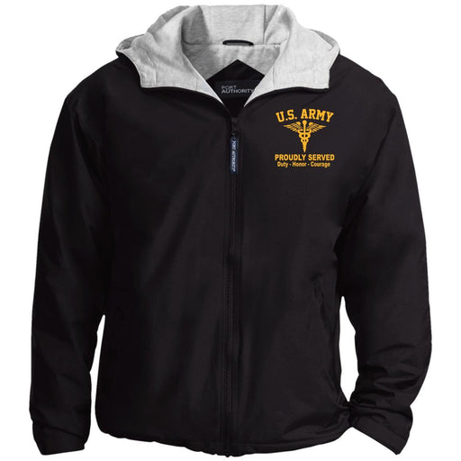 US Army Medical Corps Embroidered Port Authority® Hoodie Team Jacket