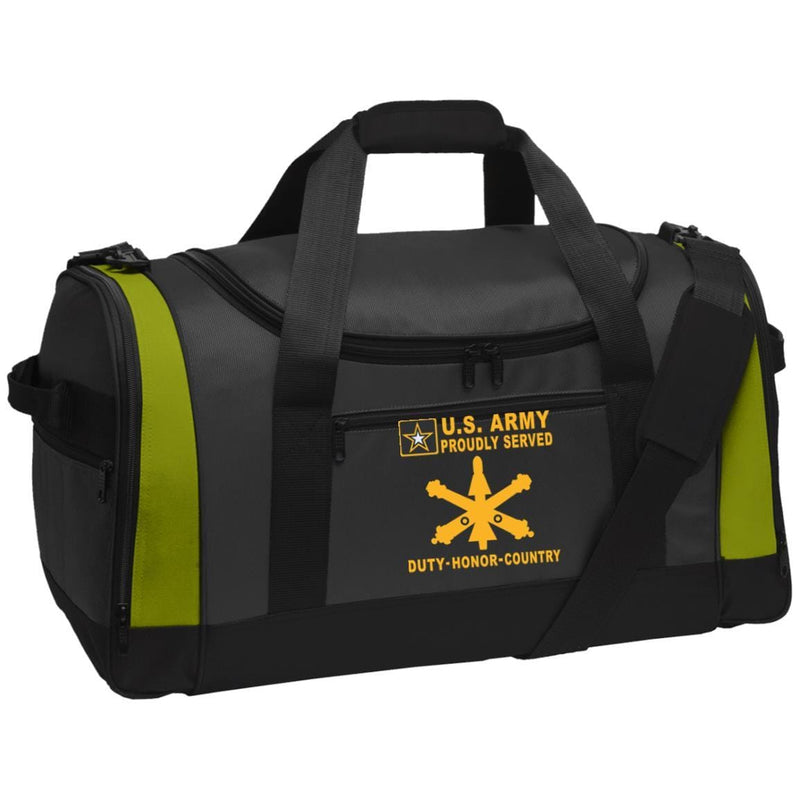 US Army Air Defense Artillery - Proudly Served-D04 Embroidered Duffel Bag
