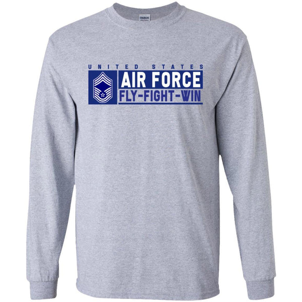 US Air Force E-9 Chief Master Sergeant Fly - Fight - Win Long Sleeve - Pullover Hoodie