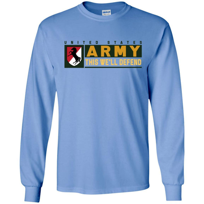 US Army 11TH ARMORED CAVALRY REGIMENT- This We'll Defend T-Shirt On Front For Men