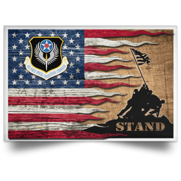 US Air Force Special Operations Command Stand For The Flag Satin Landscape Poster