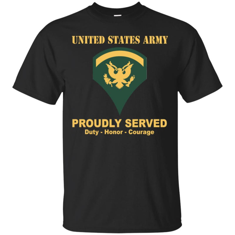 US Army E-5 SPC E5 Specialist Ranks Men Front Shirt US Army Rank