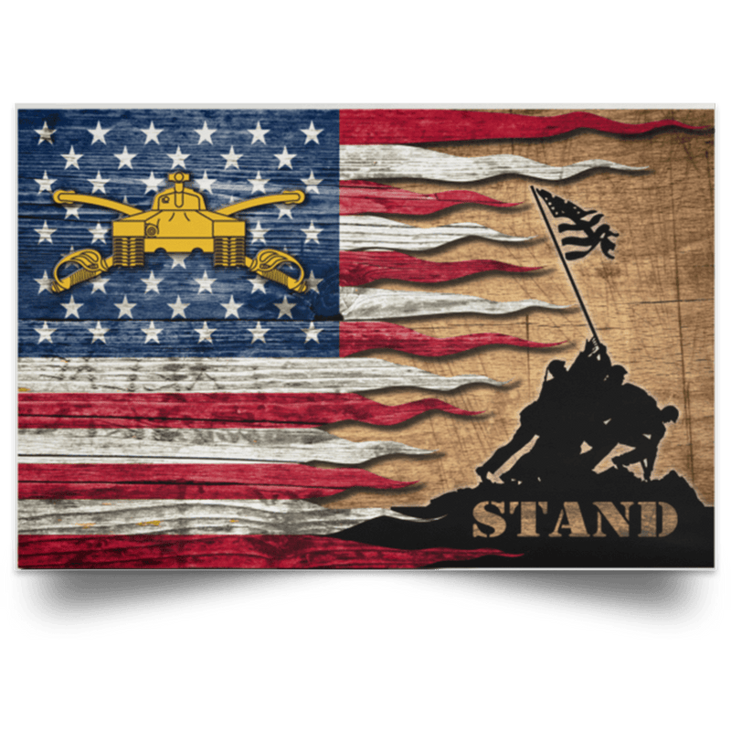 U.S Army Armor Stand For The Flag Satin Landscape Poster