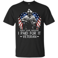 Enjoy your freedom I paid for it Men Front T Shirts