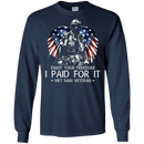 Vietnam Veteran - Enjoy your freedom I paid for it Men Front T Shirts