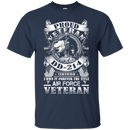 Proud Air Force Veteran DD214 Front T Shirts