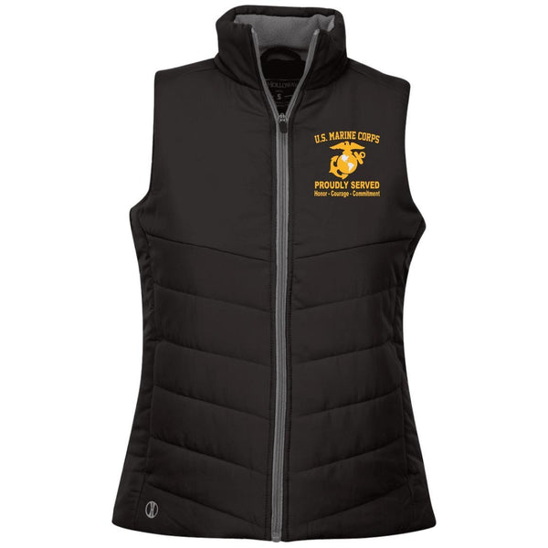 M.Corps Logo Embroidered Holloway Ladies' Quilted Vest