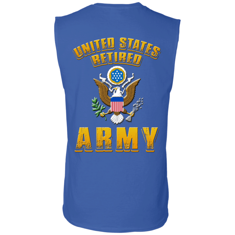 US Retired Army Veteran Back T Shirts