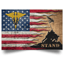 US Army Veterinary Corps Stand For The Flag Satin Landscape Poster