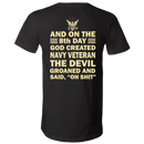 God Created Navy Veteran T Shirt