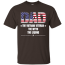 Vietnam Veteran Legend Dad Front T Shirts
