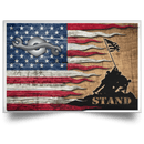 Navy Construction Mechanic Navy CM Stand For The Flag Satin Landscape Poster