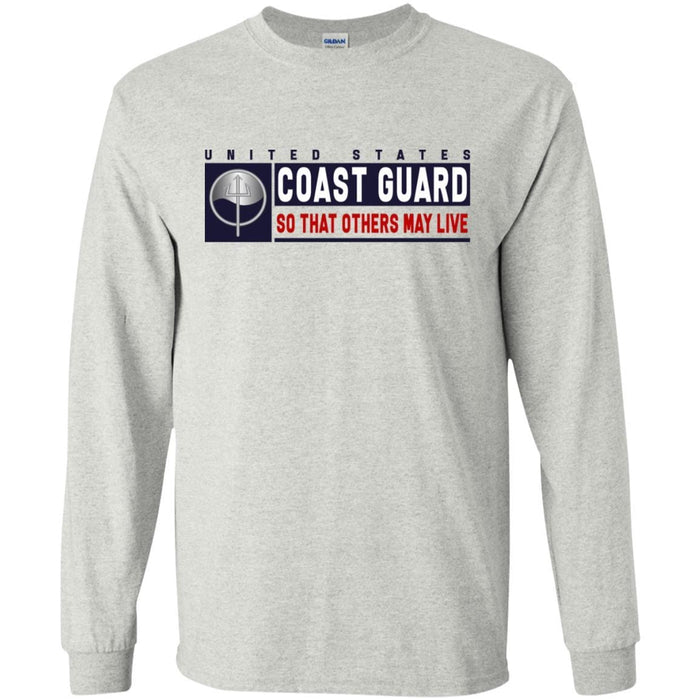 USCG MARINE SCIENCE TECHNICIAN MST Logo- So that others may live Long Sleeve - Pullover Hoodie