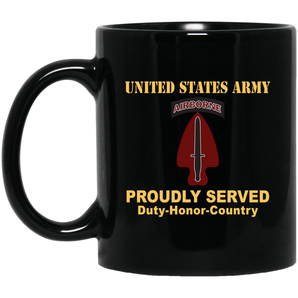 U.S. ARMY SPECIAL OPERATIONS COMMAND- 11 oz - 15 oz Black Mug