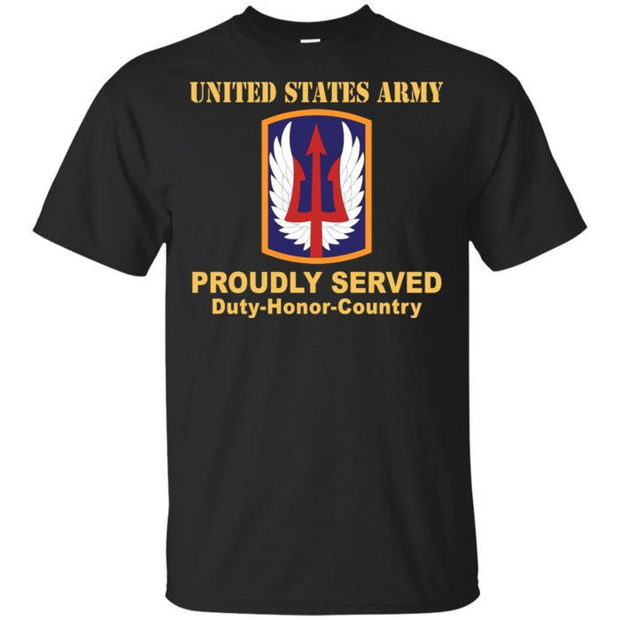 Buy US ARMY 185TH THEATER AVIATION BRIGADE- Proudly Served T-Shirt On Front  For Men | VeteranNations