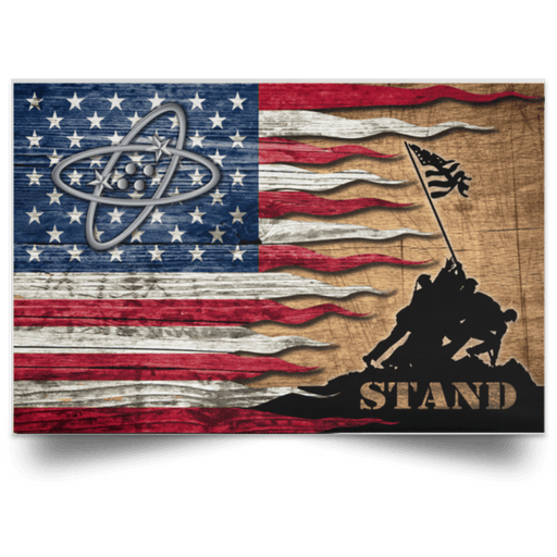 US Coast Guard Electronics Technician ET Logo Stand For The Flag Satin Landscape Poster