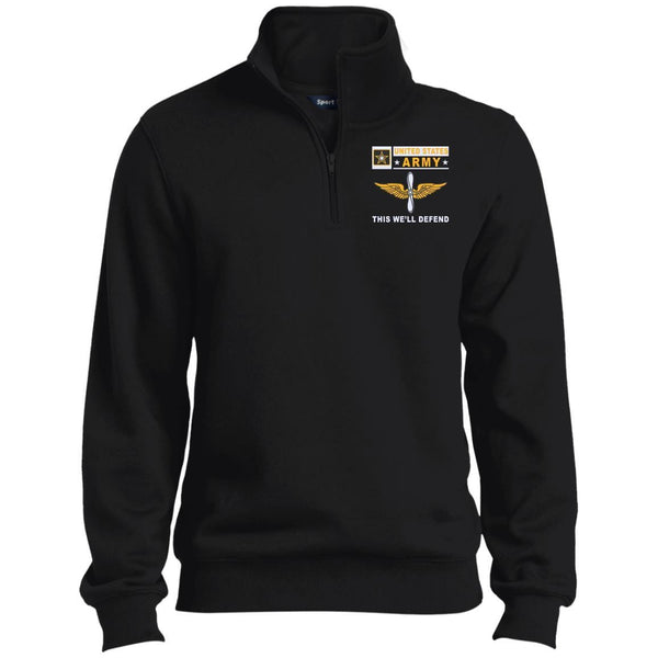 US Army Aviation- This we'll defend Embroidered 1/4 Zip Pullover