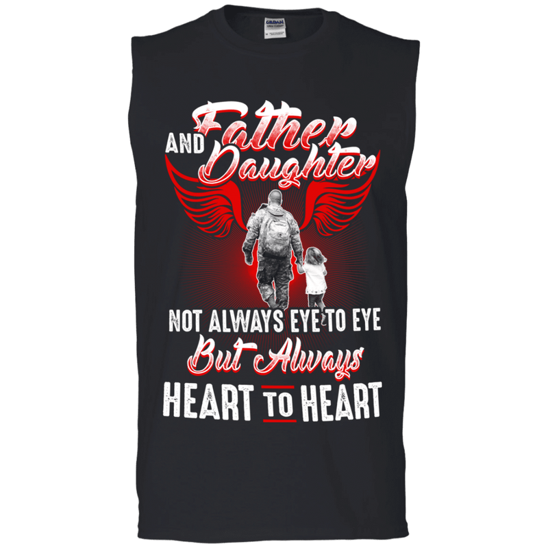 FATHER AND DAUGHTER ALWAYS HEART TO HEART T SHIRT