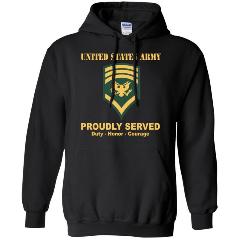 US Army E-8 SPC E8 Specialist Ranks Men Front Shirt US Army Rank