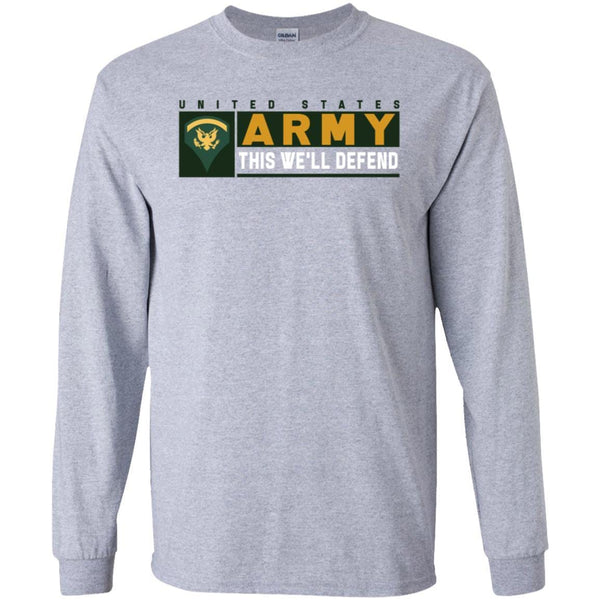 US Army E-5 SPC This We Will Defend Long Sleeve - Pullover Hoodie