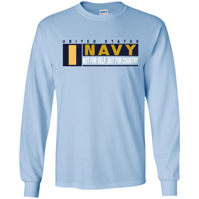 US Navy O-1 Ensign O1 ENS Not For Self, But For Country Long Sleeve - Pullover Hoodie