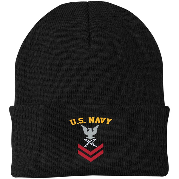 US Navy Cryptologic Technician CT E-5 Rating Badges Embroidered Port Authority Knit Cap