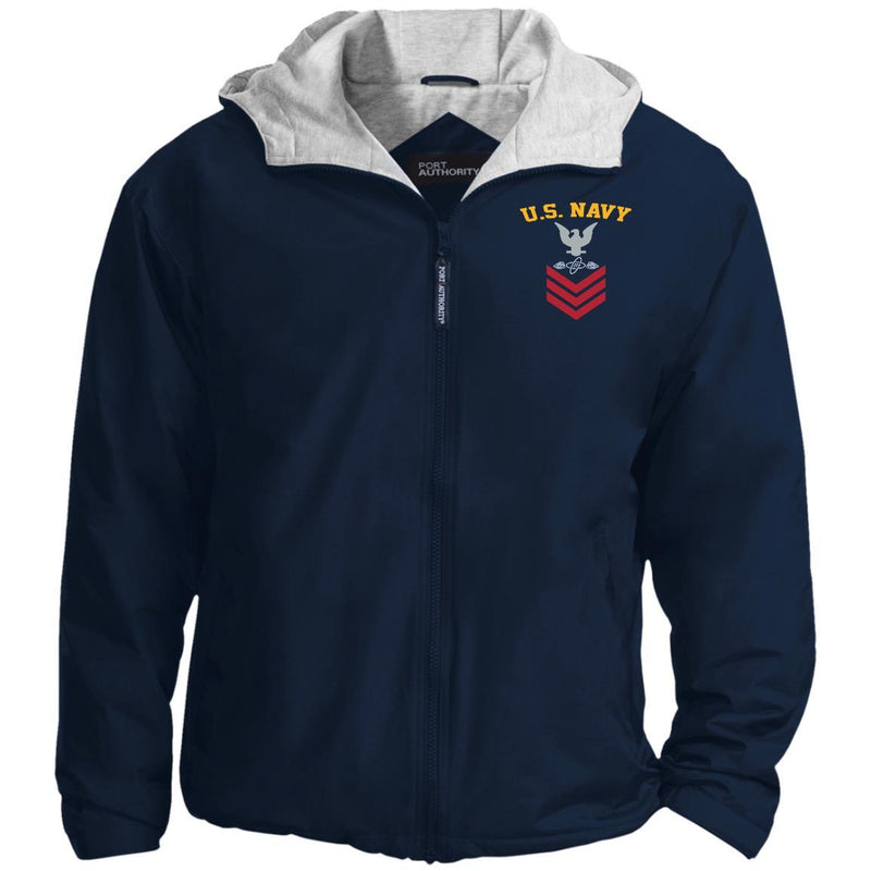 US Navy Aviation Electronics Technician AT E-6 Rating Badges Embroidered Hoodie Team Jacket