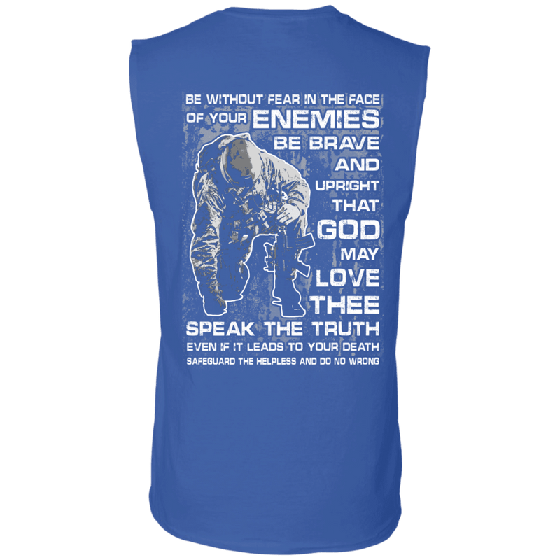 Be without Fear in The Face Men Back T Shirts
