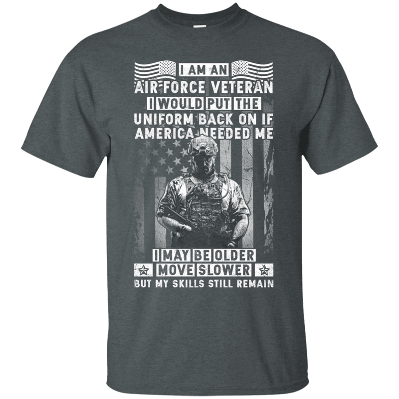 I am an Air Force Veteran Men Front T Shirt