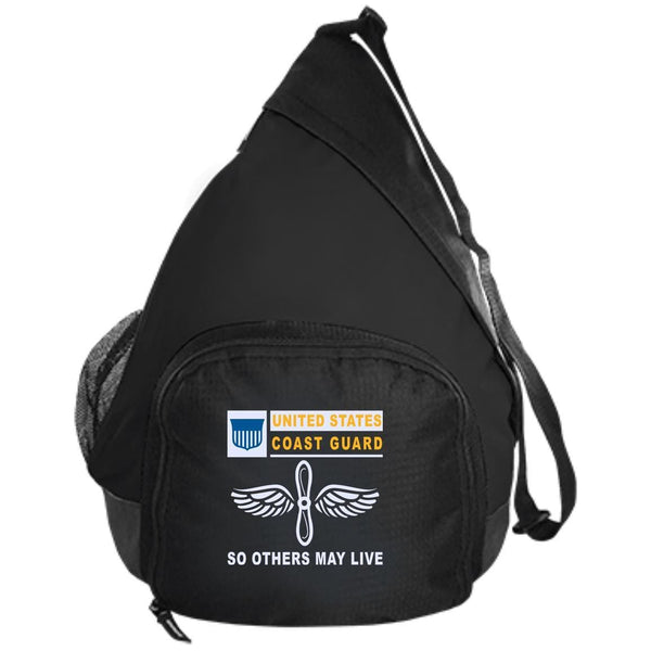 US Coast Guard Aviation Maintenance Technician AMT.png- So others may live Embroidered Active Sling Pack