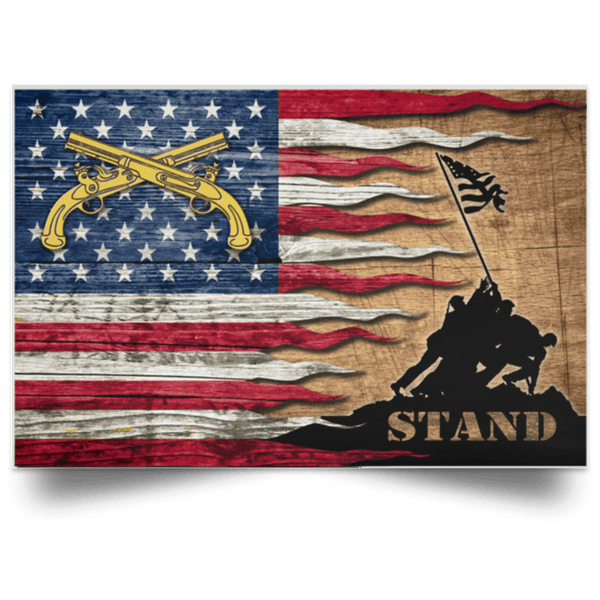 U.S. Army Military Police Corps Stand For The Flag Satin Landscape Poster