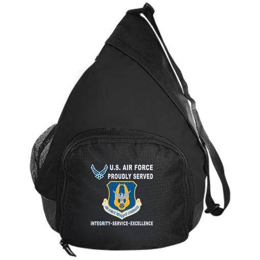 US Air Force Reserve Command Proudly Served-D04 Embroidered Active Sling Pack