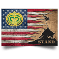 US Army Drill Sergeant Stand For The Flag Satin Landscape Poster