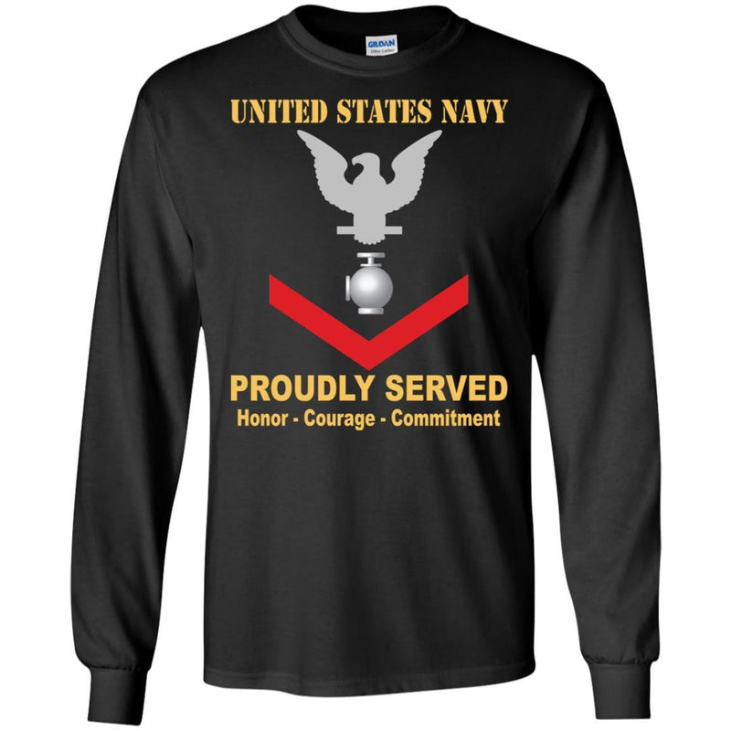 Navy Utilitiesman Navy UT E-4 Rating Badges Proudly Served T-Shirt For Men On Front