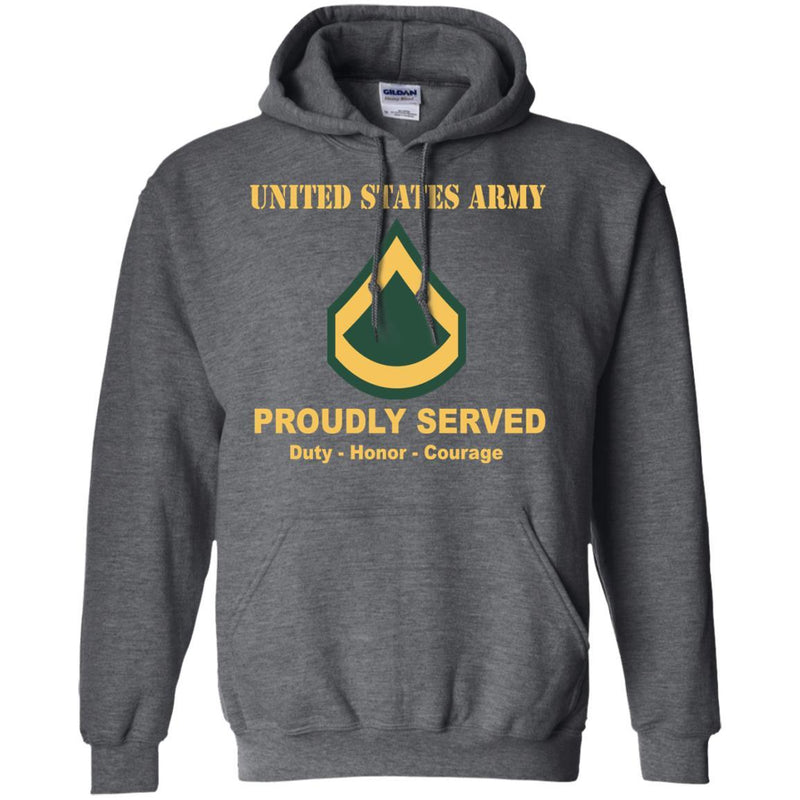 Army E-3 PFC E3 Private First Class Ranks Men Front Shirt US Army Rank