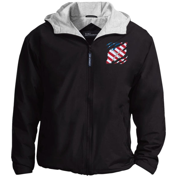 US Navy Yeoman YN And American Flag At Heart Embroidered Team Jacket