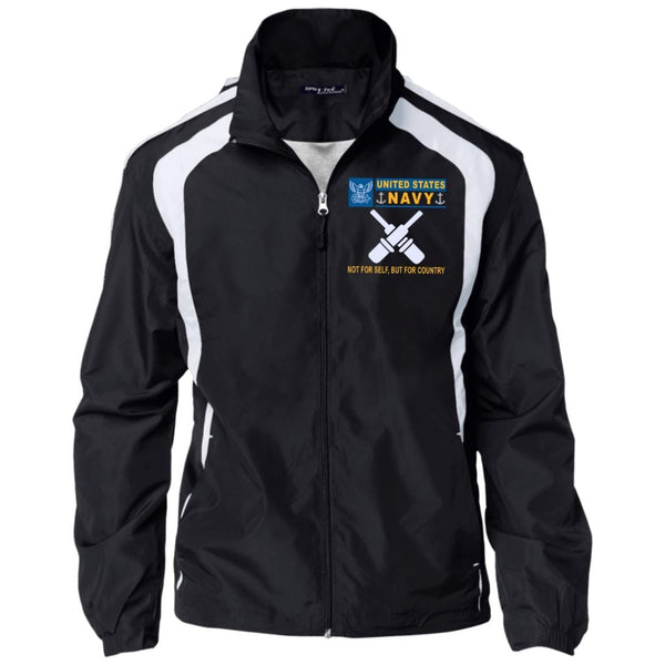 US Navy Gunner's Mate GM- Not For Self, But For Country Embroidered Sport-Tek Jersey-Lined Jacket