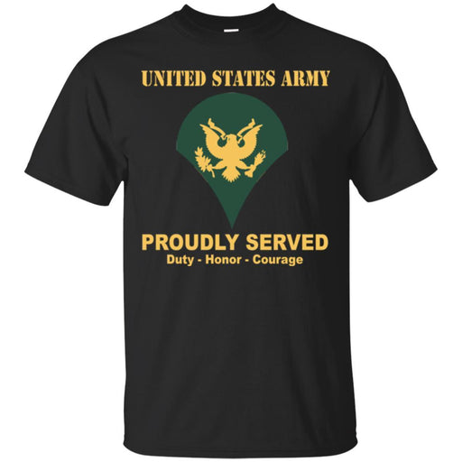 US Army E-4 SPC E4 Specialist Ranks Men Front Shirt US Army Rank