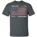 This Oath Never Expires Men Front T Shirts