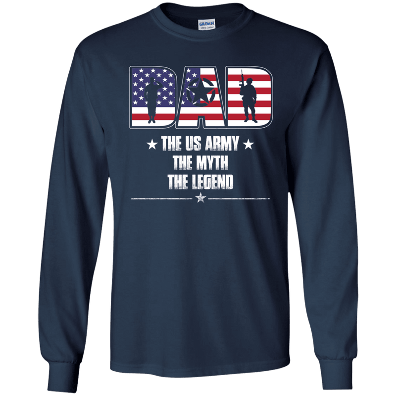 US Army Legend Dad Front T Shirts