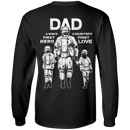 Dad A Son's First Hero Daughter's First Love Men Back T Shirts