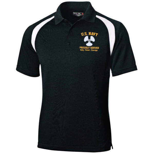 US Navy Machinist's Mate MM Logo Embroidered Sport-Tek Moisture-Wicking Tag-Free Golf Shirt