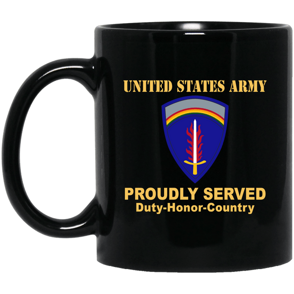 UNITED STATES ARMY EUROPE- 11 oz - 15 oz Black Mug